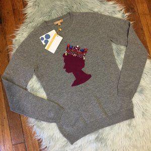 $260 NWT Kier & J Jewel Queen Cashmere Sweater XS